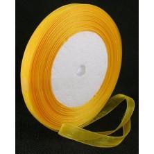 Cinta de organza amarilla 10mm. - Rollo 45 m.