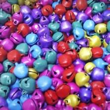 E197 / Cascabeles de colores - 100 Unid.