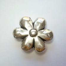 ZM72262-10 / Aplique para anillo zamak flor. 2 Unid.