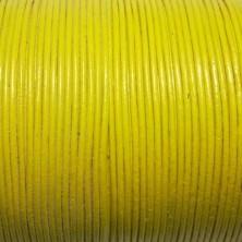 CCR1 / Cordón cuero redondo 1mm. Amarillo. 1 Metro.