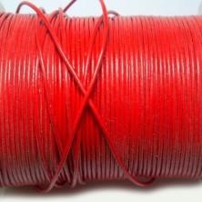 CCR15 / Cordón cuero redondo 1.5mm. Rojo. 1 Metro.
