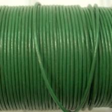 CCR15 / Cordón cuero redondo 1.5mm. Verde. 1 Metro.