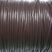 CCR15 / Cordón cuero redondo 1.5mm. Marrón. 1 Metro.