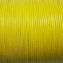 CCR15 / Cordón cuero redondo 1.5mm. Amarillo. 1 Metro.