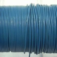 CCR15 / Cordón cuero redondo 1.5mm. Azul azafata. 1 Metro.