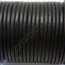 CCR25 / Cordón cuero redondo 2.5mm. Negro. 1 Metro.