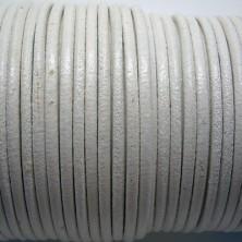 CCR25 / Cordón cuero redondo 2.5mm. Azul azafata. 1 Metro.