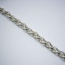 C24123 / Cadena baño plata brillo. 20cm.