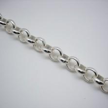 C50 / Cadena baño plata brillo. 20cm.