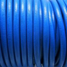 CC45 / Cordón cuero 4.5mm. AZULON. 1m.