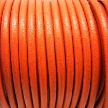 CC45 / Cordón cuero 4.5mm. NARANJA. 1m.