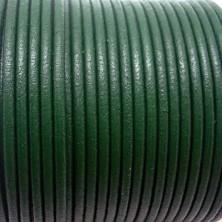 CCR25 / Cordón cuero redondo 2.5mm. Verde. 1 Metro.