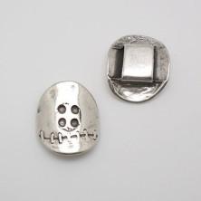 ZM6863-10 / Aplique para anillo zamak botón. 2 Unid.