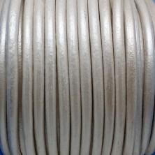 CC45 / Cordón cuero 4.5mm. LILA NACARADO. 1m.