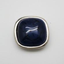 ZM72270-10 / Aplique anillo zamak AZUL. 1 Unid.