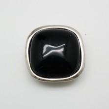 ZM72270-10 / Aplique anillo zamak NEGRO. 1 Unid.