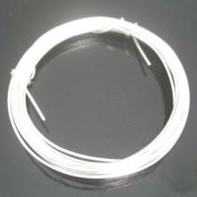 Alambre para bisutería color plata 1 mm. - 4m.