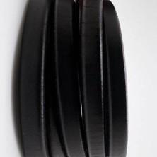 27710 / Cuero regaliz negro HUECO. 20 cm.