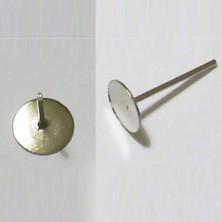 E174 / Base para pendientes 10mm. 50 unid.