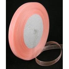 Cinta de organza rosa pastel 10mm. - Rollo 45 m.