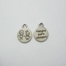 """ZM76672-11 / Medallita """"Amigos para siempre"""". 6 Unid."""