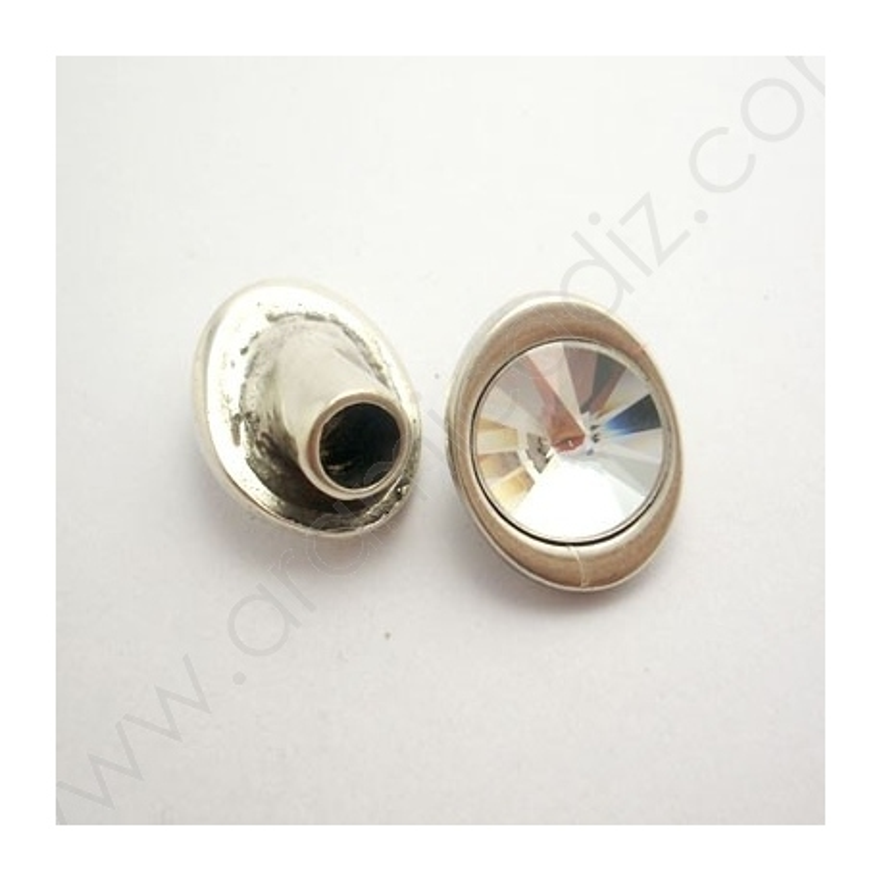 ZM77889-05 / Cierre botón cristal. 2Unid.