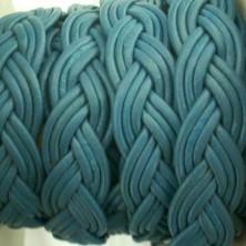 TP13 / Trenza plana azul azfata. 20cm.