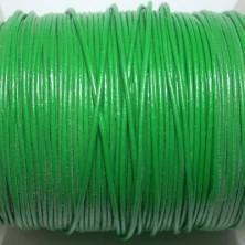 CCR1 / Cordón cuero redondo 1mm. Verde. 1 Metro.