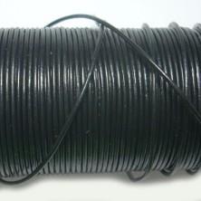 CCR1 / Cordón cuero redondo 1mm. Negro. 1 Metro.