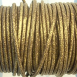 CCR25 / Bronze leather cord 2,5mm. 1 m.