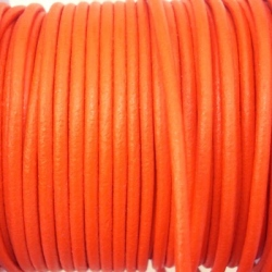 CCR25 / Orange leather cord 2,5mm. 1 m.