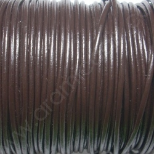 CCR2 / Cordón cuero redondo 2mm. Marrón. 1 Metro.