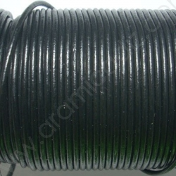 CCR2 / LEATHER CORD 2MM. BLACK.
