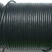 CCR2 / Cordón cuero redondo 2mm. Negro. 1 Metro.