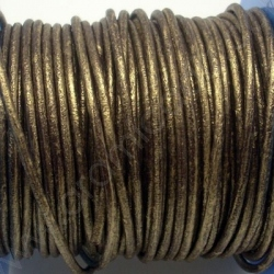 CCR2 / LEATHER CORD 2MM. OLD GOLD.