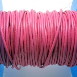 CCR2 / LEATHER CORD 2MM. GUM PINK.