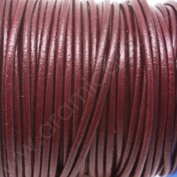 CCR25 / Red wine leather cord 2,5mm. 1 m.