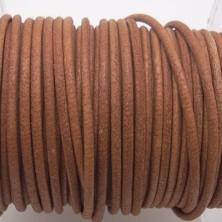 CCR15 / Cordón cuero redondo 1.5mm. Marrón tostado. 1 Metro.