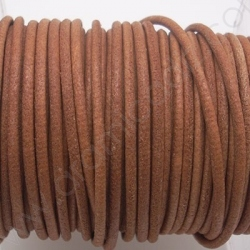 CCR2 / LEATHER CORD 2MM. NAT. BROWN