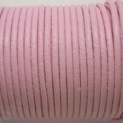 CCR2 / LEATHER CORD 2MM. BABY PINK.