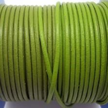 CCR2 / Cordón cuero 2mm. Pistacho. 1M.
