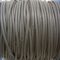 CCR2 / LEATHER CORD 2MM. GREY.
