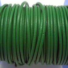 CCR2 / Cordón cuero redondo 2mm. Verde. 1 Metro.
