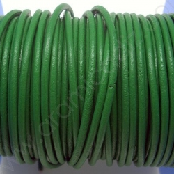 CCR2 / LEATHER CORD 2MM. GREEN.