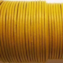CCR2 / Cordón cuero redondo 2mm. Azul marino. 1 Metro.