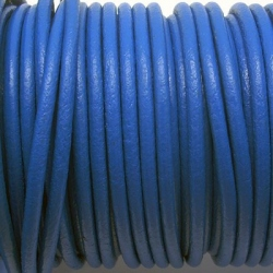 CCR25 / Electric blue leather cord 2,5mm. 1 m.