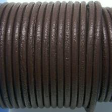 CCR25 / Cordón cuero redondo 2.5mm. Marrón. 1 Metro.