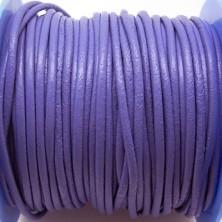 CCR2 / Cordón cuero redondo 2mm. Lila. 1 Metro.