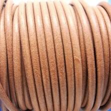 CC45 / Cordón cuero 4.5mm. Marrón natural. 1m.