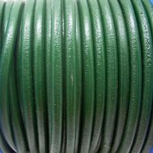 CC45 / Cordón cuero 4.5mm. VERDE. 1m.